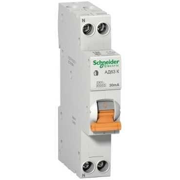 Дифференциальный автомат 1пол.+N 16А 30мА 4, 5kA K Domovoy Schneider Electric  - Купить