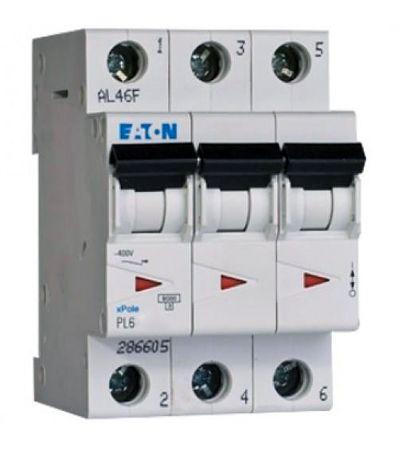 Автоматический выключатель 25А, хар. С, 3-пол., 6 кА PL6 (6 кА), PL7 (10kA), PLH, EATON  - Купить