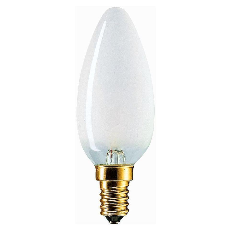 Купить Лампа накаливания Philips Stan 40W E14 230V B35 FR 1CT/10X10F свеча, матовая