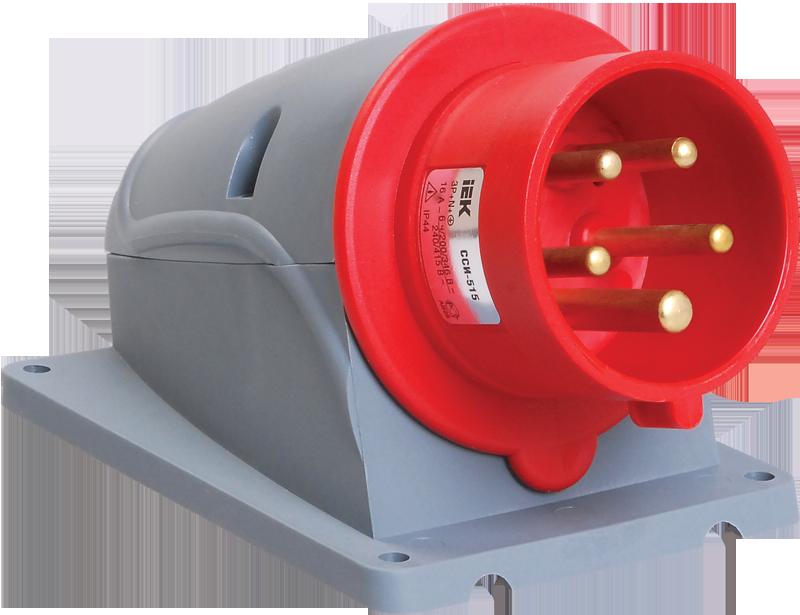 Купить Вилка для монтажа на поверхность 3P+N+E 16A IP44 515 MAGNUM силовая стационарная, IEK (ИЭК)