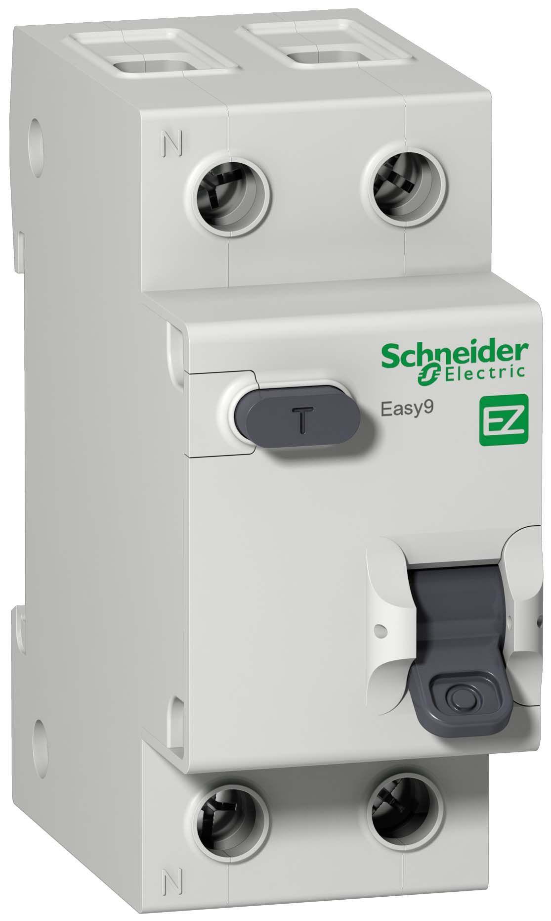 Дифференциальный автомат 1пол.+N 32А 30мА с тип AС 4.5кА Easy9 Schneider Electri, Schneider Electric  - Купить