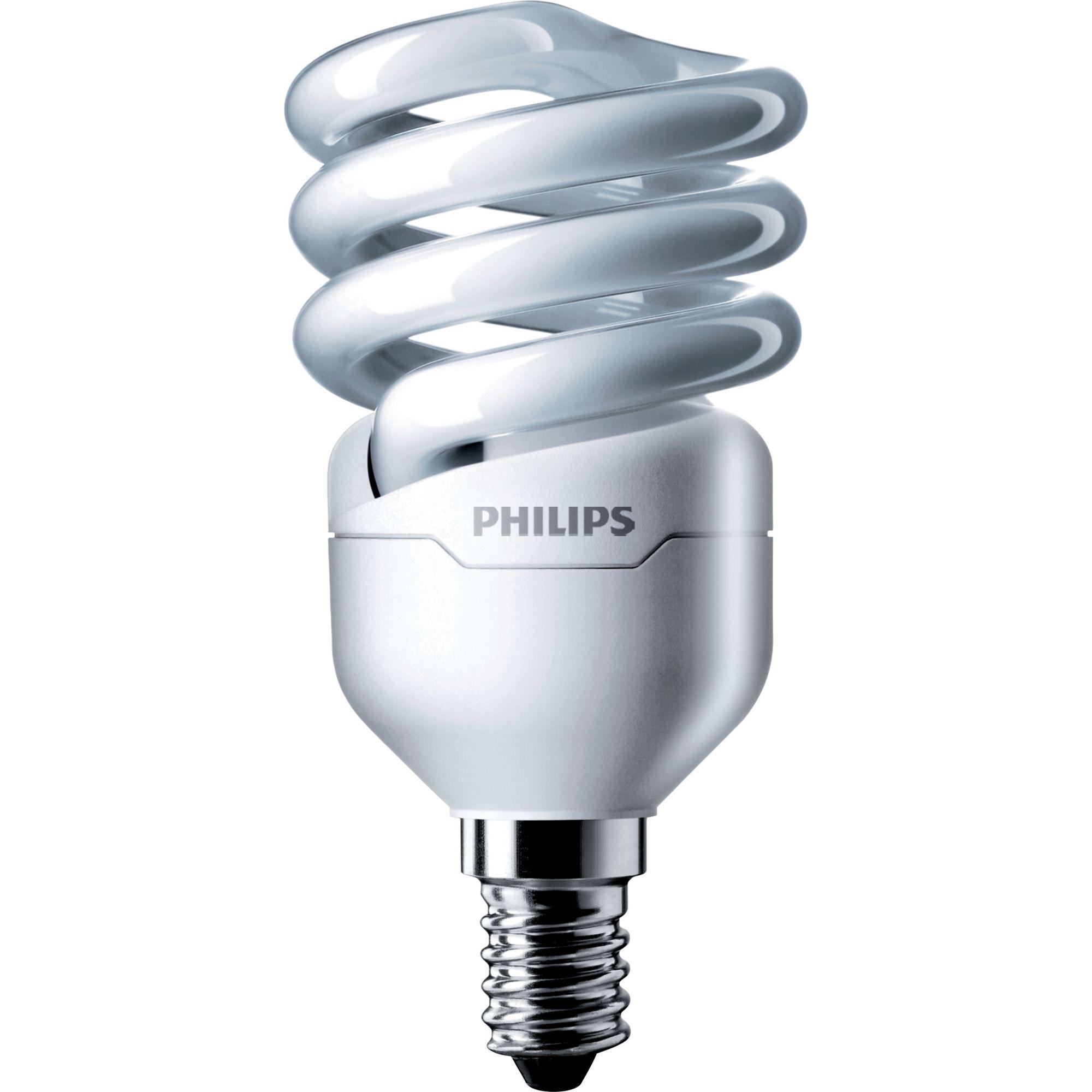 Купить Лампа люминесцентная Philips Tornado T2 12W WW E14 220-240V 1PF/6 8000ч, теплый-