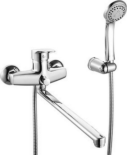 Купить Смеситель для ванны Iddis Sicily CD23A19CK+Z06 комплектный, длинный излив, Россия