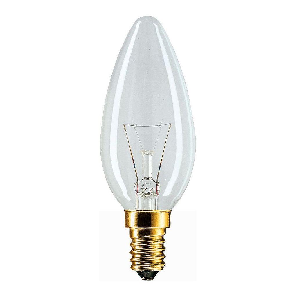 Купить Лампа накаливания Philips Stan 60W E14 230V B35 CL 1CT/10X10F свеча, прозрачная