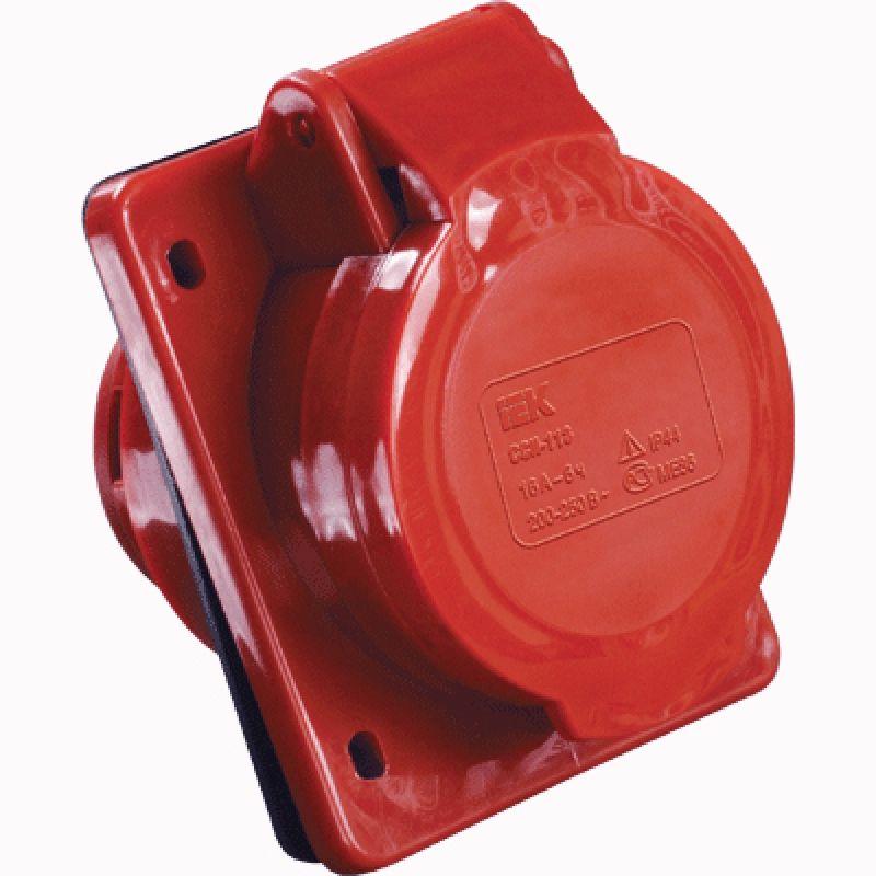 Купить Розетка панельная 3P+N+E 16A IP44 415 MAGNUM IEK силовая фл. монтажа, IEK (ИЭК)