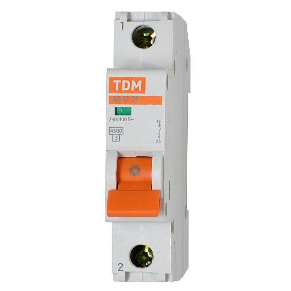 Купить Выключатель автоматический 1-пол. 10А D 4, 5кА ВА47-29 DВА47-29 TDM, TDM ELECTRIC