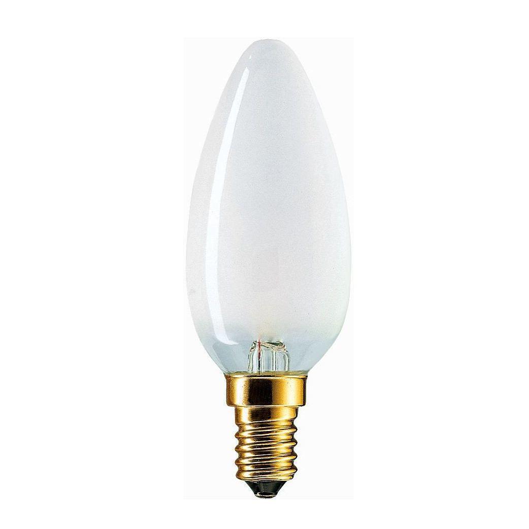 Купить Лампа накаливания Philips B35 60W 230V E14 FR.1CT/10X10F свеча матовая