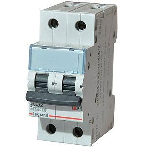 Купить Выключатель автоматический 2-пол. 16А с 6kA TX3 Legrand TX3 6 10 кА с