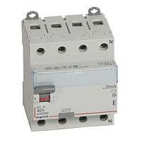 Купить Устройство защитного отключения 4-пол. 40А 30mA тип АС DX3 Legrand
