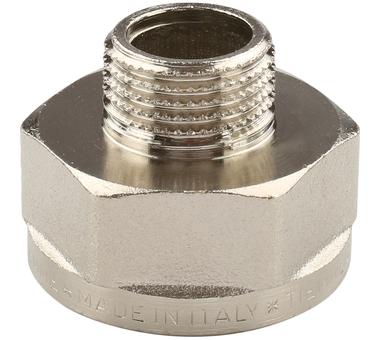 Купить Переходник НВ никелированный 1/2х1 для стальных труб резьбовой TIEMME 1500249(15, Италия