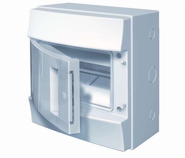 Купить Бокс настенный IP65 8М Mistral непрозрачная дверь 232x250x154 ABB