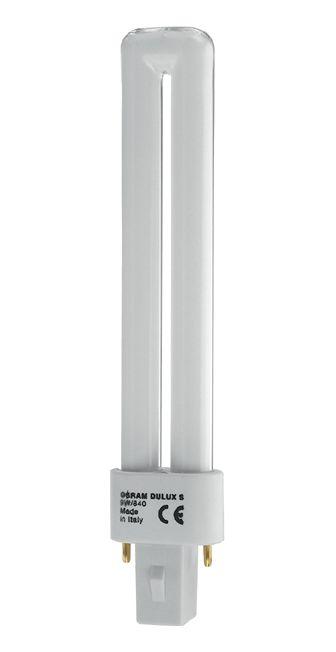 Купить Лампа люминесцентная Osram DULUX S 11W/827 G23 10X1 2-штыр G23 U , стартер, теп, Osram Ledvance