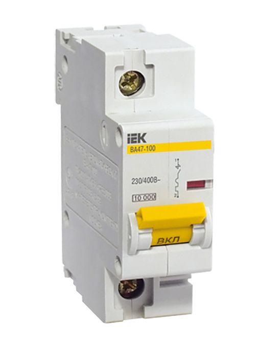 Купить Выключатель автоматический 1-пол.100A с 10кА ВА47-100 IEK с ВА47-100, IEK (ИЭК)